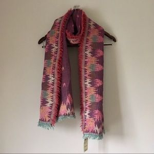 NWT Lucky Brand Soft Jacquard Patterned Scarf